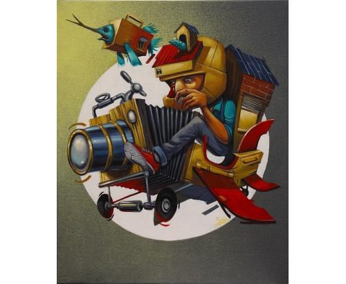 Tableau Street Art LE PILOTE DE TES REVES
