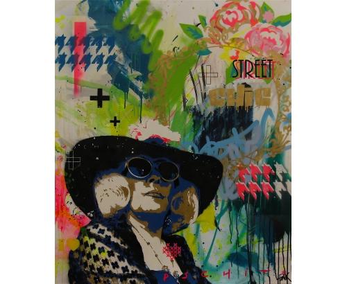 Tableau Street Art LE STREET, C'EST CHIC