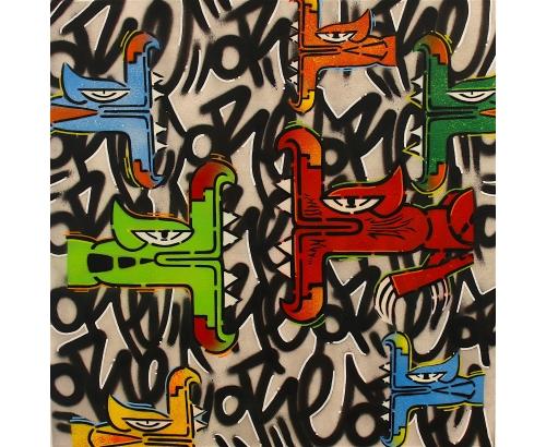 Tableau Street Art GRAFFITI STORY N°14