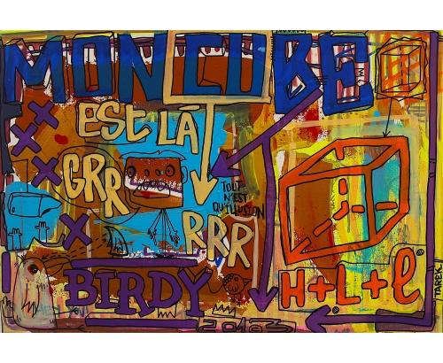 Tableau Street Art MON CUBE