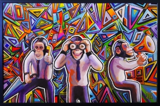 Street Art Artwork 3 MONKEYS