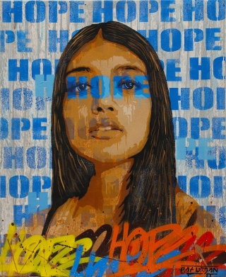 Tableau Street Art HOPE N° 4