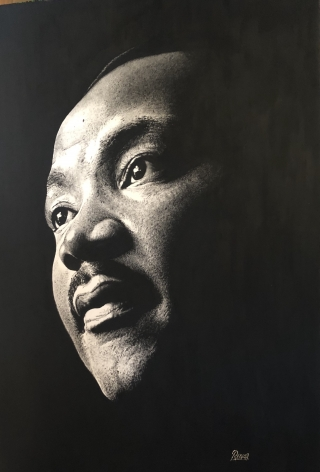 Tableau Street Art MARTIN LUTHER KING