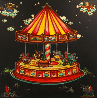Street Art Artwork MY OWN CAROUSEL