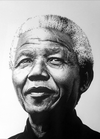 Street Art Artwork NELSON MANDELA